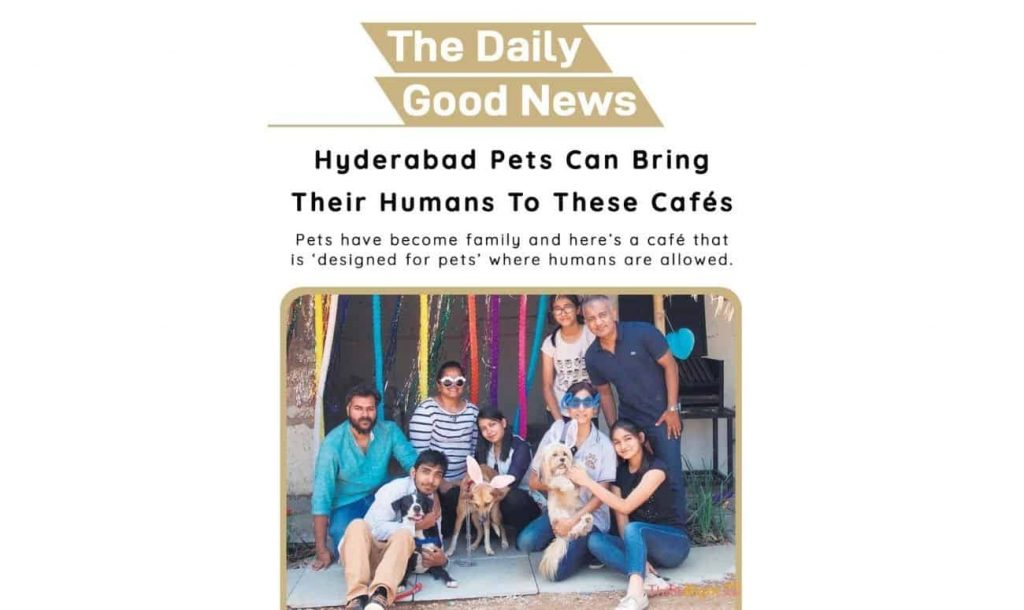 Positive news 24th July 2021 - Hyderabad Pets Can Bring Their Humans To These Cafés